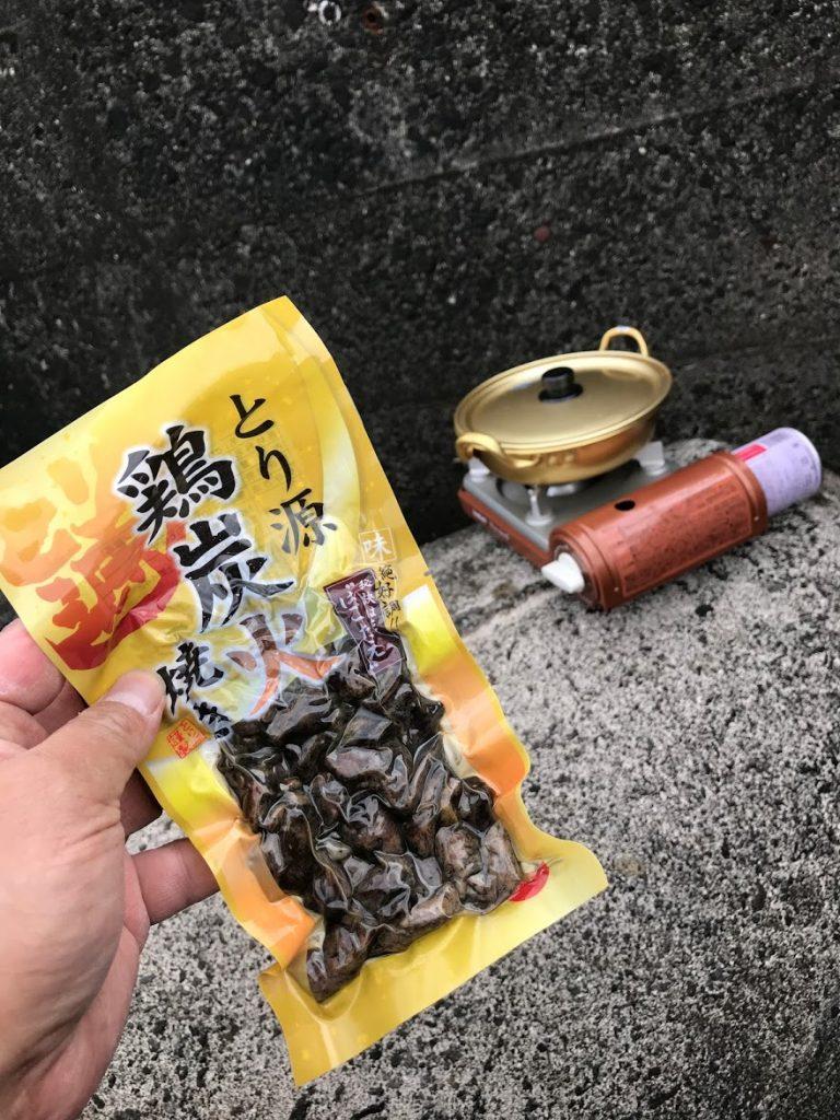 釣り カセットコンロ チキンラーメン