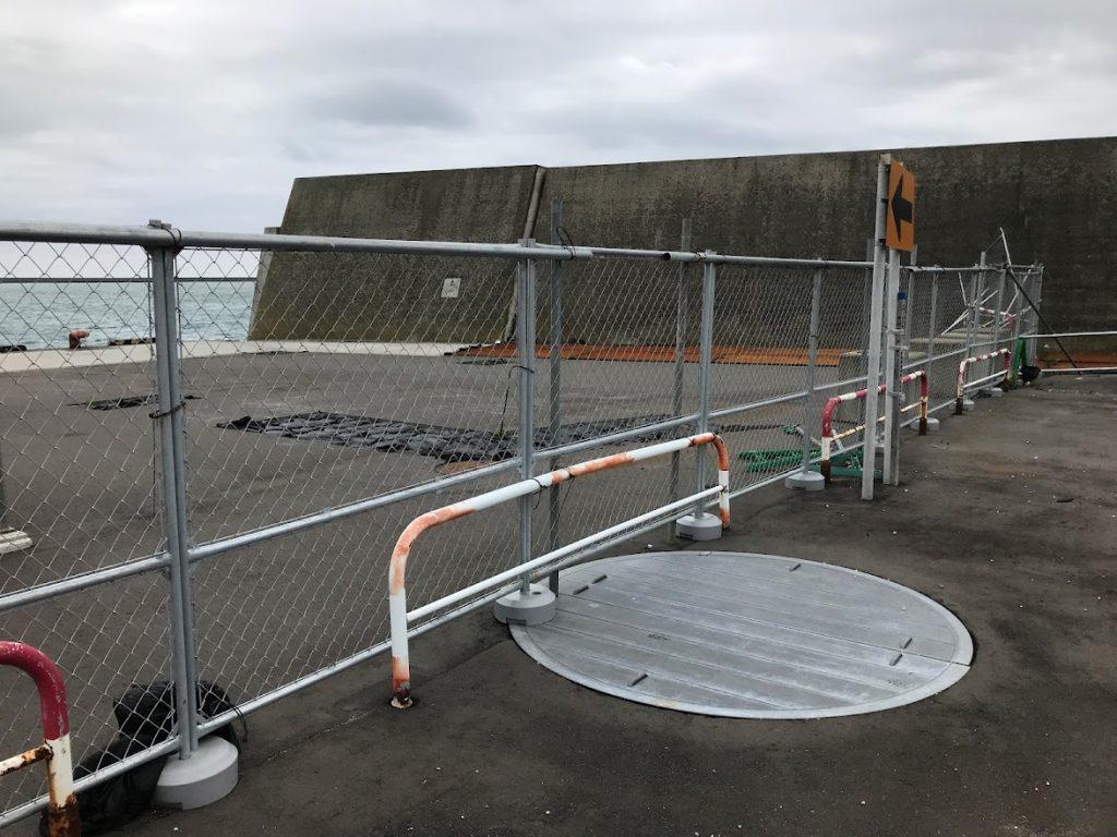 一級釣り場が!苫小牧東港 コールセンター前が閉鎖!